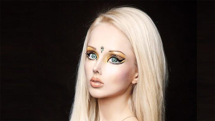 Celebrity with star tattoo beside eye