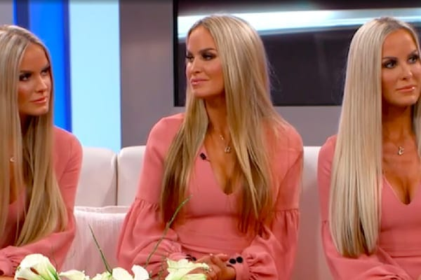 Jaclyn, Erica, and Nicole on the set of The Doctors finding out they are identical triplets from a DNA test