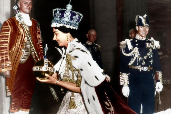 Coronation of Queen Elizabeth II on June 2, 1953, one year after the death of her father, King George VI