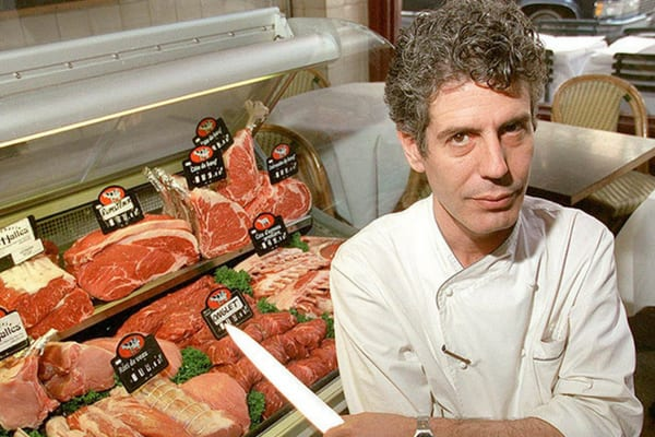 Anthony Bourdain once sold his extensive record collection to buy more narcotics to put into his body