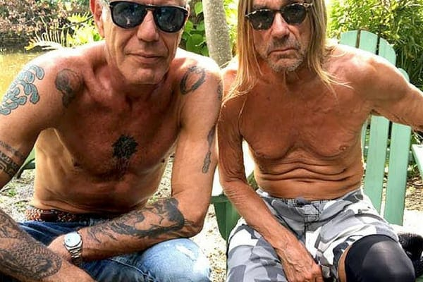 Anthony Bourdain was known as the bad boy chef as he was covered in tattoos and had a potty mouth