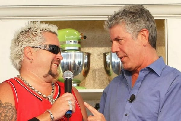 Anthony Bourdain feuded with the flame-shirted television chef, Guy Fieri, in the past
