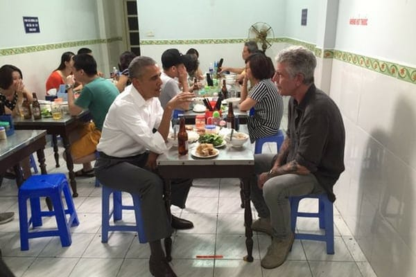 During an episode of Parts Unknown, Anthony Bourdain sat down with Barack Obama in Vietnam